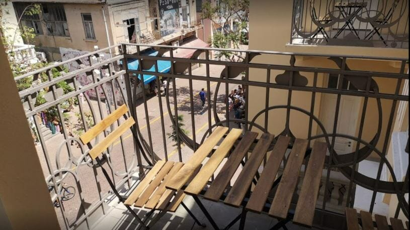 Balcony Street View Short Term Apartment Tel Aviv B